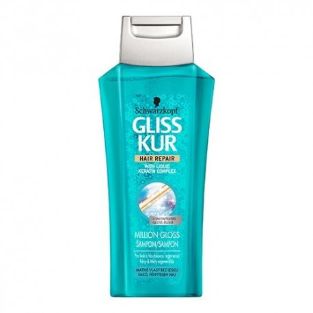 Gliss kur šampón 250 ml - Million gloss