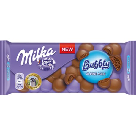 Milka čokoláda 100 g - Bubbly alpine milk