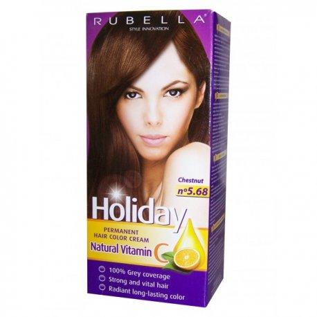 Holiday farba na vlasy - N 5.68 - Gaštan