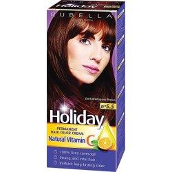 Holiday farba na vlasy  - Tmavo hnedá mahagón  N 5.5
