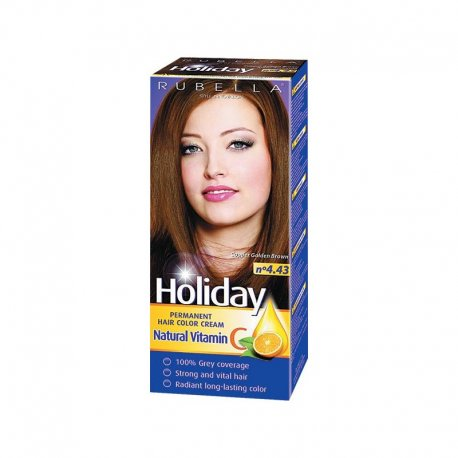Holiday farba na vlasy - N 4.43 - Zlatá medená hnedá