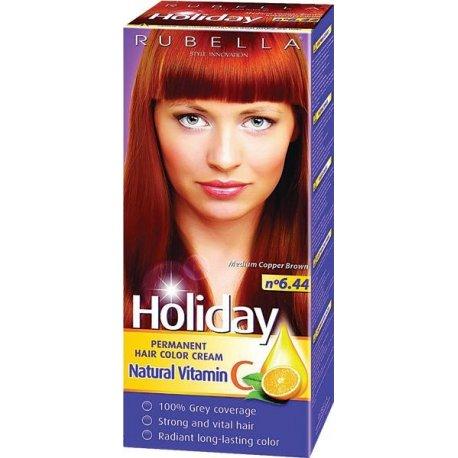 Holiday farba na vlasy - N 6.44 - Medená hnedá