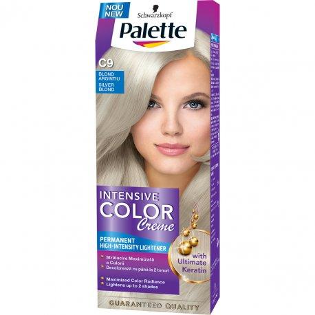 Palette farba na vlasy - C9 - Striebroplavý