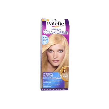Palette farba na vlasy - E20 - Super svetlý blond
