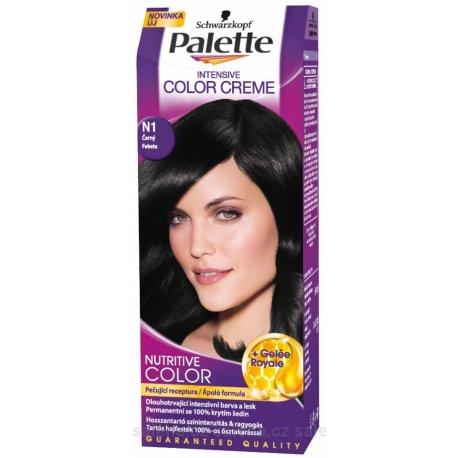 Palette farba na vlasy - N1 - Čierny