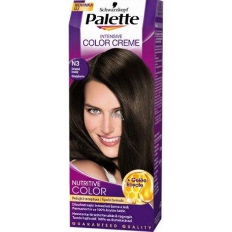 Palette farba na vlasy - N3 - Strednehnedý