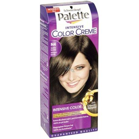 Palette farba na vlasy - N4 - Svetlohnedý
