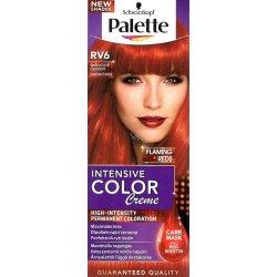 Palette farba na vlasy - šarlátové červený RV6