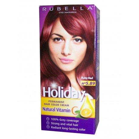 Holiday farba na vlasy N-5,89  rubín červená