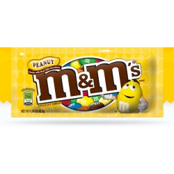 M&M's Arašidové čokoládové dražé plnené arašidmi v chrumkavej cukrovej škrupinke 45 g