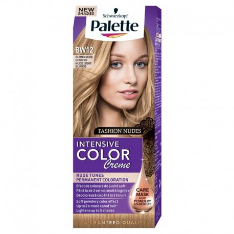Palette farba na vlasy BW12 - svetlo plavý nude intesive color