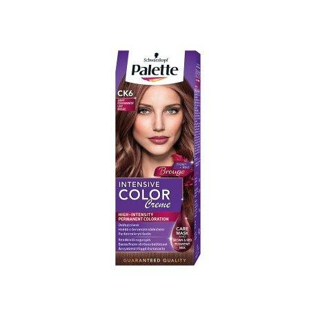 Palette farba na vlasy CK6 - Jemný červenohnedý