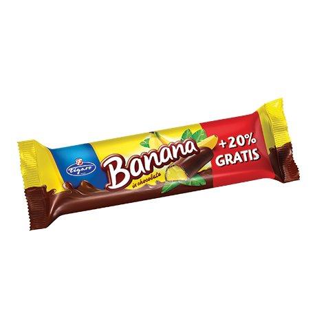 Figaro Banana penové banánové želé v čokoláde 30 g