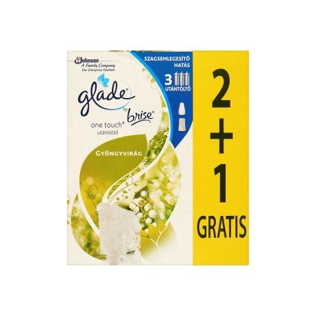 Glade by Brise One Touch Konvalinka náplň 3 x 10 ml