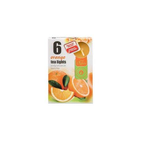 Admit Tea lights orange 6x12g