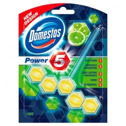 Domestos Power 5 Lime tuhý WC blok 55 g