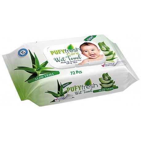 Pufy  Baby Aloe Vera Vlhčené detské obrúsky 72 ks