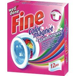 Well Done Fine color magnet Obrúsky pohlcujúce farbu a odstraňovač škvrn 12ks