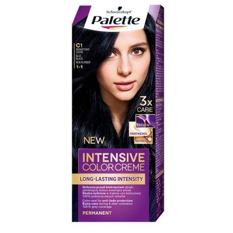 Palette farba na vlasy - C1 - Modračierny