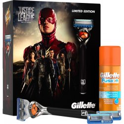 GILLETTE Fusion Proglide Flexball JUSTICE LEAGUE Flash kazeta