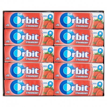 Orbit Jahoda žuvačka bez cukru s príchuťou jahody 10 ks dražé 14 g