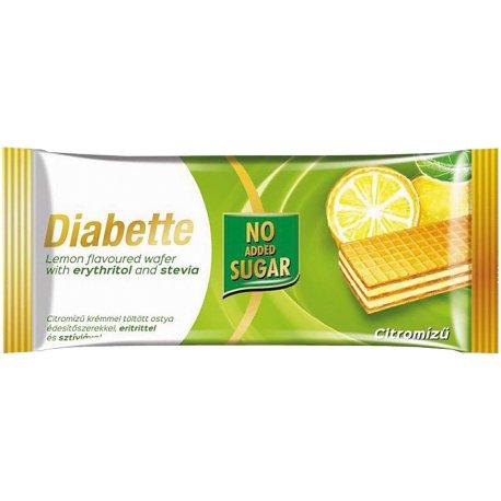 Diabette oblátka bez cukru s náplňou citron  40 g