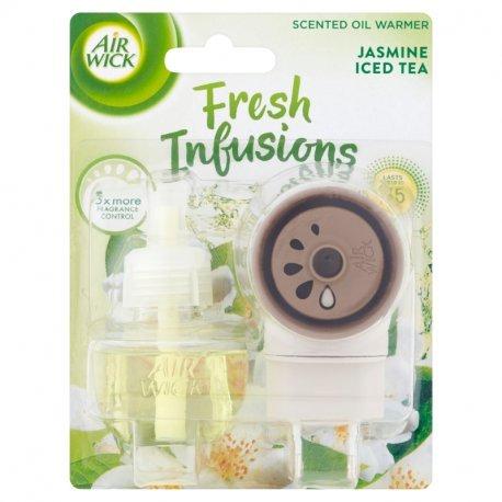 Air Wick Fresh Infusions Elektrický osviežovač vzduchu strojček a náplň vôňa jazmínového čaju 19 ml