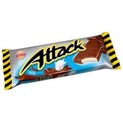 Attack Oblátky s mliečnou krémovou náplňou v mliečno-kakaovej poleve 30 g