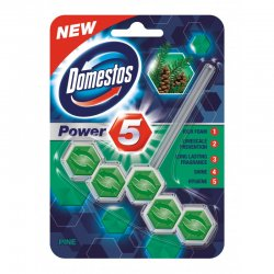 Domestos Power 5 Pine tuhý WC blok 55g