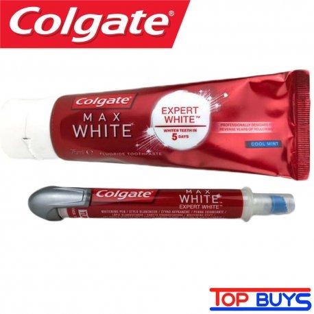 Colgate Expert Max White 75ml + bieliace pero 5 ml