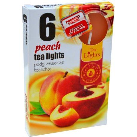 Tea lights peach 6 x 12 g