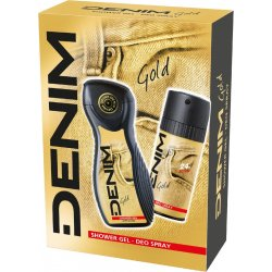 Denim Darčeková Pánska sada sprchový gél 250ml + deodorant Gold 150ml