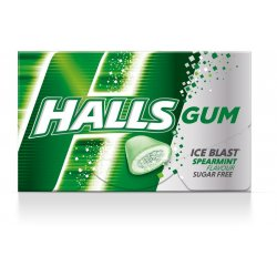 Halls Gum Ice Rush Spearmint 18 g