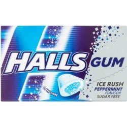 Halls Gum Ice Rush Peppermint 18 g