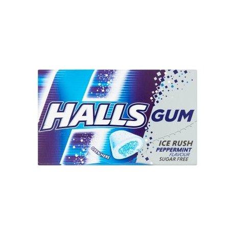 Halls Gum Ice Rush Peppermint 18 g