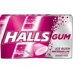 Halls Gum Ice Rush Watermelon 18 g