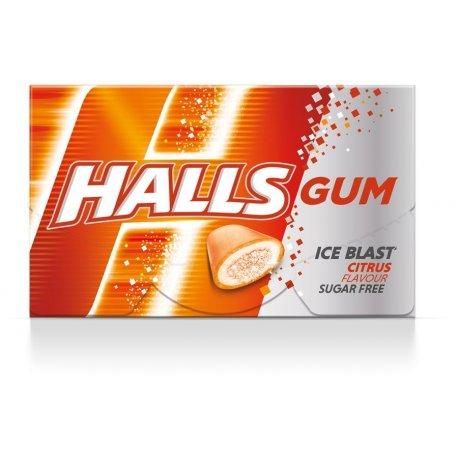 Halls Gum Ice Rush Citrus 18 g