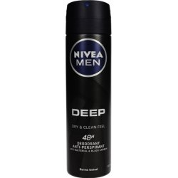 Nivea Antiperspirant Men Deep Black Carbon  150 ml