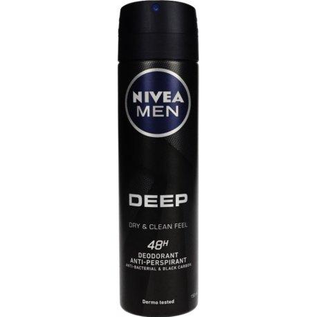 Nivea Antiperspirant Men Deep Black Carbon  150 ml