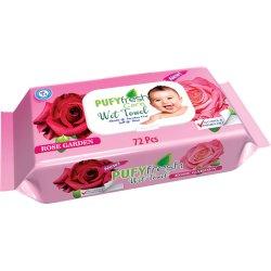 Pufy vlhčené utierky Rose 72 ks 210 g