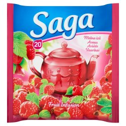 Saga čaj Malina 20 ks   34 g