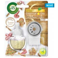 Air Wick Essential Oils Christmas Cookie Vánoční cukroví elektrický stroj+ osvěžovač náhradní náplň 19 ml