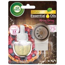 Air Wick Essential Oils Merry Berry - Vôňa zimného ovocia elektrický osviežovač + náhradná náplň 19 ml