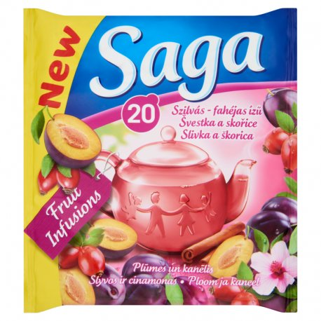 Saga čaj slivka - škorica  34 g