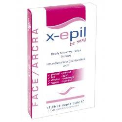 X epil depilačné studené voskové pásiky na tvár 12 ks