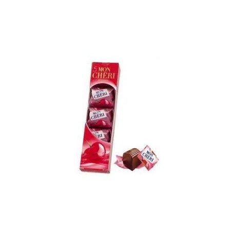 Mon Chéri Čokoládové bonbóny plnené celou čerešňou v likéri 52,5 g