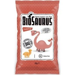 Biosaurus bezgluténové chips s kečupom 50g