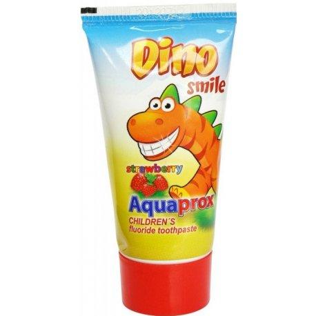 Dino Smile Aquaprox detská zubná pasta s fluórom a príchuťou jahôd 60 g