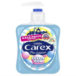 Carex antibakterialne detske  tekute mydlo Bubble gum  250 ml