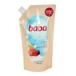 Baba tekuté mydlo náhradná náplň Mlieko a ovocie  500 ml